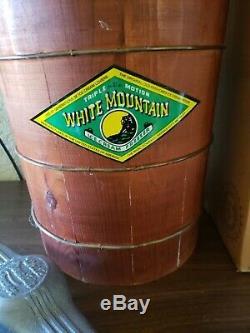 New Vtg Crank White Mountain Model F64306 Triple Motion 6 Qt Ice Cream Maker