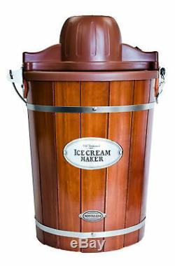 Nostalgia Electric Ice Cream Maker 6 Qt Machine Yogurt Gelato Churning Bucket