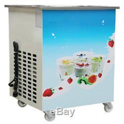 Portable Durable 36cm Fried Thai Ice Cream Single Pan Yogurt Machine Roll Maker