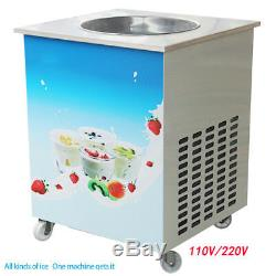 Pro Fried Ice Cream Machine 36cm Round Single Pan Yogurt Rolled Ice-cream Maker