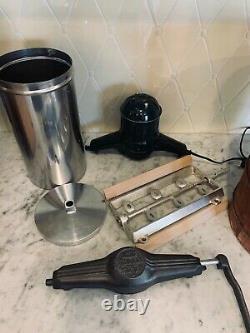 RARE Combo 6 qt White Mountain Ice Cream Maker with Dual Electric/Manual