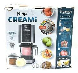 READ Ninja NC301 CREAMi Ice Cream Maker Cloud Silver OPEN BOX BUT INCOMPLETED