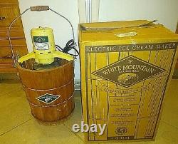 Rare Model White Mountain 4 Quart Electric Ice Cream Maker USA Tested Clean