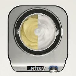 Severin Compact Ice Cream Maker Cooling Unit 135 Watts, 1.2 Litre, Black, Silver