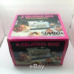 Simac IL Gelataio 800 Ice Cream Man Ice Cream Maker Sorbet Frozen Yogurt