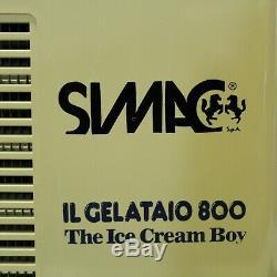 Simac IL Gelataio 800 The Ice Cream Boy Maker Machine Gelato Sorbet Yogurt