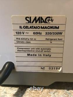 Simac IL Gelataio Ice Cream Man Ice Cream Maker Tested and Working