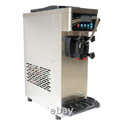 Single Flavor Soft Serve Ice Cream Machine Pre-cooling Ice Cream Cone Maker 110v