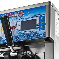 Soft Ice Cream Machine 3 Flavors Commercial Frozen Ice Cream Cones Machine Hot