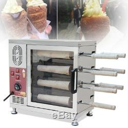 Steel Electric Ice Cream Cone Kurtos Kalacs Chimney Cake Roll maker oven Machine