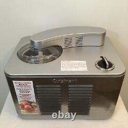 TESTED- Cuisinart Commercial Quality Ice Cream Maker Model ICE-50BC Stainless