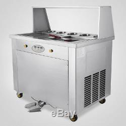 Temperature Control Fried Ice Cream Machine Roll Ice Cream Maker Pick-up 1060W