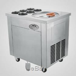 Temperature Control Thai Fried Ice Cream Machine 35cm Pan Roll Ice Cream Maker