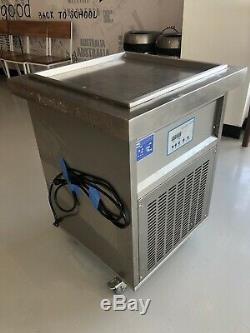 Thai Ice Cream Roll Maker Machine 110v, square fry pan 19 3/4x 19 3/4