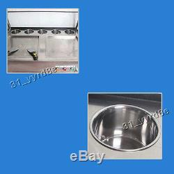 Thailand style double pan fried ice cream roll maker machine 2 compressors 110V