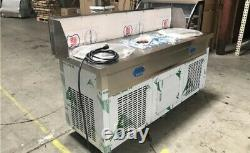 USED Portable Rolled Fried Ice Cream Maker Machine Double Pan ONLY FOR PICK UP