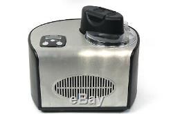 Unold De Luxe Eismaschine 48816 Edelstahl Schwarz 1,5L 150 Watt gut. Zustand OVP