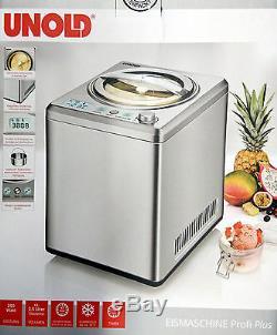 Unold Eismaschine 2,5 L Profi Plus 48880, Kompressor Eisbereiter, Icemaker