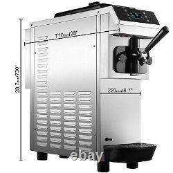 VEVOR 13L/H Commercial Soft Serve Ice Cream Maker 1 Flavor Ice Cream Machine