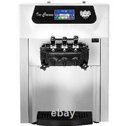 VEVOR 18-28L/H Commercial Soft Serve Ice Cream Maker 3 Flavors Ice Cream Machine