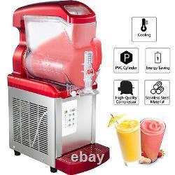 VEVOR Commercial Slush Machine 6L Frozen Drink Ice Maker LED Automatic Clean Red