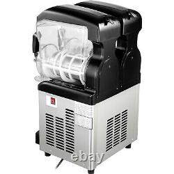VEVOR Commercial Slushy Machine 2x6L Soft Ice Cream Maker Automatic Clean withLED