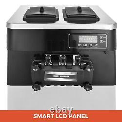 VEVOR Commercial Soft Serve Ice Cream Machine 3 Flavors Ice Cream Maker 20-28L/H