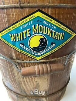 VINTAGE RIVAL WHITE MOUNTAIN 6QT ELECTRIC ICE CREAM FREEZER MAKER Triple Action