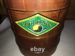 VTG White Mountain 6 QT Ice Cream Maker Wood Hand Crank Incredible Unused LOOK