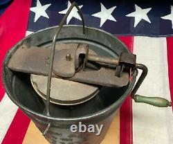 Vintage Antique Sonny Boy Freezer Galvanized Ice Cream Maker NS Corp. Mt. Joy, PA