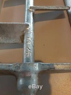 Vintage Antique Wooden bucket iron hand crank Ice Cream Maker USA farmhouse prim