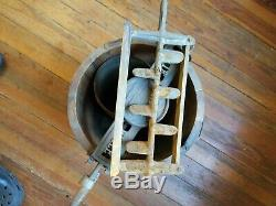 Vintage Dixie Bell Ice Cream Freezer Wooden Hand Crank Ice Cream Maker NC