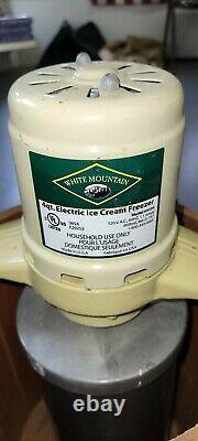 Vintage Electric White Mountain Ice Cream Freezer Maker 4 Quart IOB
