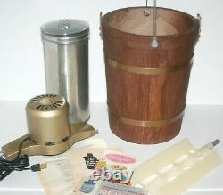 Vintage Sears Ice Cream Freezer Maker MCM 4 Qt Electric With Box, 60's S245-1902