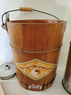 Vintage Wood White Mountain 2 Quart Crank Ice Cream Maker Freezer Triple Motion