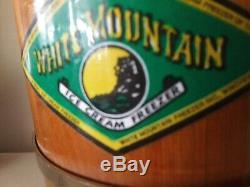 WHITE MOUNTAIN ICE CREAM Maker Freezer Salesman Sample Small 1 Qt Pint Amazing