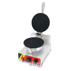 Waffle Cone Maker Commercial Electric Ice Cream Cone Waffle Machine with Nonstic