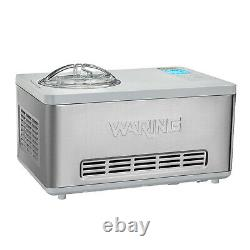 Waring WCIC20 Ice Cream Maker electric 2 qt. Capacity built-in compressor