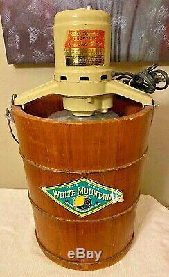 White Mountain 4 6 Quart Electric Ice Cream Freezer Maker Model 692