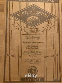 White Mountain 4 Quart Electric Ice Cream Freezer Maker Model 69206 Very Clean