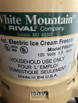 White Mountain 4 Quart Electric Ice Cream Maker USA Model 65301