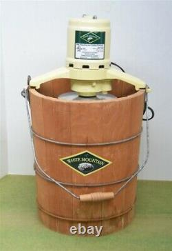 White Mountain 4 quart Electric Ice Cream Maker Freezer 69204