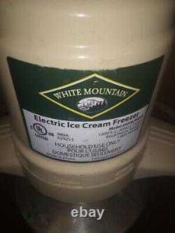 White Mountain 69206 Electric Ice Cream Maker Freezer 4 Quart Nice