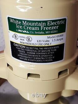 White Mountain 69206 Electric Ice Cream Maker Freezer 6 Quart Nice
