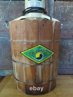 White Mountain 69206 Electric Ice Cream Maker Freezer 6 Quart Vintage WORKS