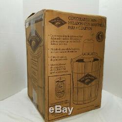 White Mountain Ice Cream Freezer Maker Electric Motor Made USA 4 Quart