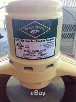 White Mountain Model 69204 Electric Ice Cream Maker Freezer 4 Quart
