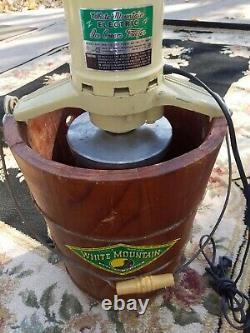 White Mountain PBWMIME612 Electric 6 Quart Ice Cream Maker Freezer