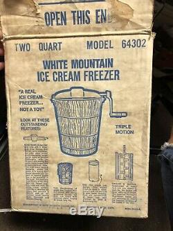 White mountain ice cream maker Hand Crank Homemade Wooden Summertime