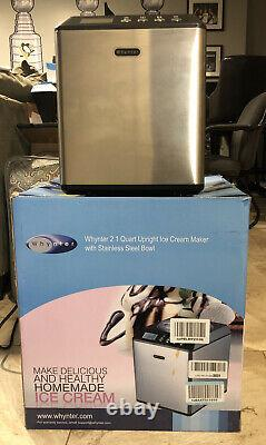 Whynter 2.1 Stainless Steel ICM-201SB Upright Automatic Ice Cream Maker New Demo